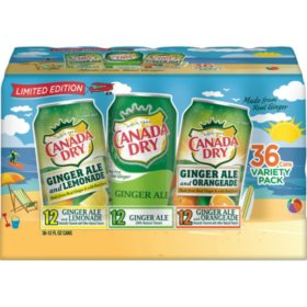 Canada Dry Ginger Ale Variety (12oz / 36pk)