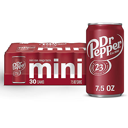 Dr. Pepper Mini Cans (7.5oz / 30pk)