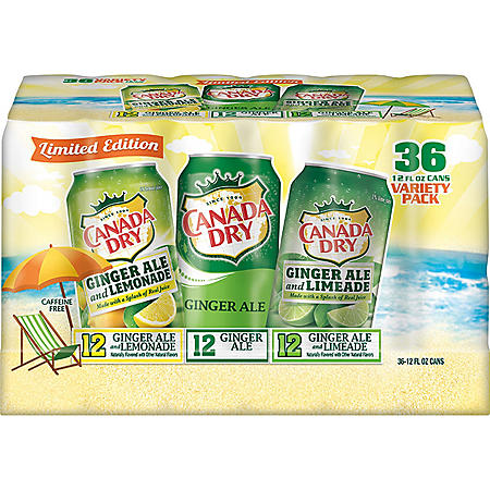 Canada Dry Summer Variety Pack (12oz / 36pk)