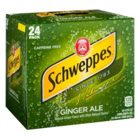 Schweppes Ginger Ale (12oz / 24pk)