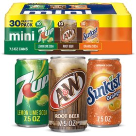 7UP, A&W and Sunkist Variety Pack (7.5 fl. oz., 30 pk.)