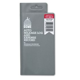 Dome - Auto Mileage Log/Expense Record, 3-1/2 x 6-1/2, 140-Page Book