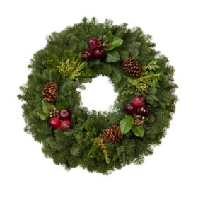 "Fresh Greens 24"" Country Side Wreath"