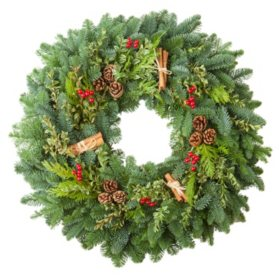 "Fresh Greens 24"" Cinnamon Spice Wreath"