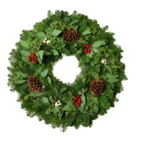 "Fresh Greens 24"" Eucalyptus & Berry Wreath"