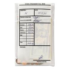 MMF Industries - Cash Transmittal Bags, Self-Sealing, 6 x 9, Clear -  100 Bags/Box