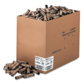 Coin-Tainer Company - Preformed Tubular Coin Wrappers, Nickels, $2 -  1000 Wrappers/Box