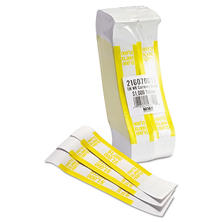Coin-Tainer Company - Self-Adhesive Currency Straps, Yellow, $1,000 in $10 Bills -  1000 Bands/Box