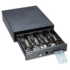 SteelMaster - Compact Steel Cash Drawer w/Spring-Loaded Bill Weights, Disc Tumbler Lock -  Black