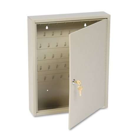 Numbered 2-Tag Locking Key Cabinet, 60-Key cap.