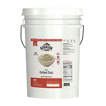 Augason Farms Quick Rolled Oats (20 lb. pail)