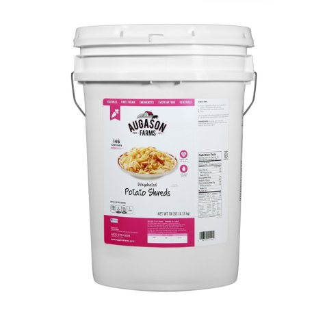 Augason Farms Potato Shreds (10 lb. pail)