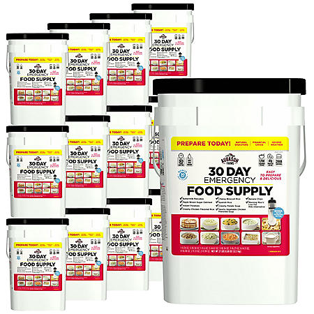 Augason Farms Emergency Food Supply Pail with Water Filtration Bottle (1-person, 1 year)