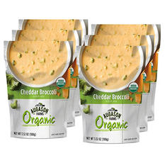 Augason Farms Organic Cheddar Broccoli Soup Mix (6 pouches)
