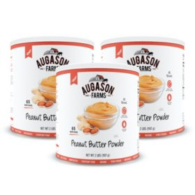 Augason Farms Dehydrated Peanut Butter Powder (#10 can, 3 pk.)