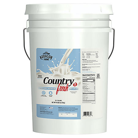 Augason Farms Country Fresh Instant Nonfat Dry Milk (6 gallon pail)