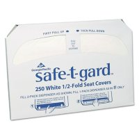 Georgia Pacific Professional Safe-T-Gard Half-Fold Toilet Seat Covers, 14.5 x 17, White (2500 ct.)