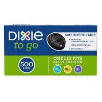 Dixie Sip-Through Dome Hot Drink Lids, Fits 12-16 oz. Cups, Black (500 ct.)