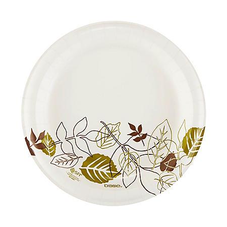 "Dixie ® 8.5"" Medium-Weight Paper Plates, Pathways® - UX9PATH (1000 ct.)"
