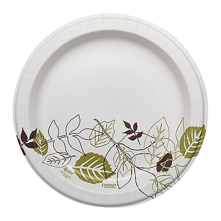 "Dixie Ultra® 10.12"" Heavy-Weight Paper Plates, Pathways® - SXP10PATH (500 ct.)"