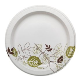 "Dixie Ultra 10.12"" Heavy-Weight Paper Plates, Pathways - SXP10PATH (500 ct.)"