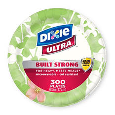 "Dixie Ultra 6 7/8"" Heavyweight Paper Plates (300 ct.)"