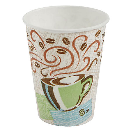 Dixie PerfecTouch Insulated Hot/Cold Paper Cups, Coffee Haze (Choose Count and Size)
