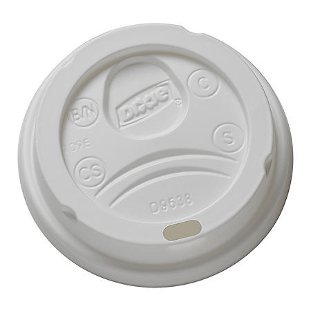 Dixie PerfectTouch Domed Hot Cup Plastic Lid, 8 oz, 1000 ct (9538DX)