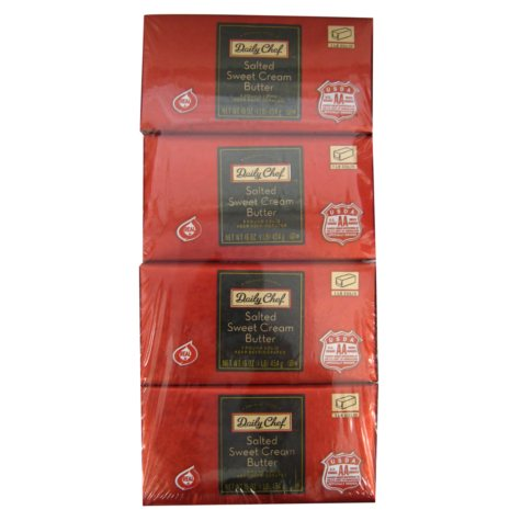 Daily Chef Salted Butter Solids - 1 lb. - 4 pk.