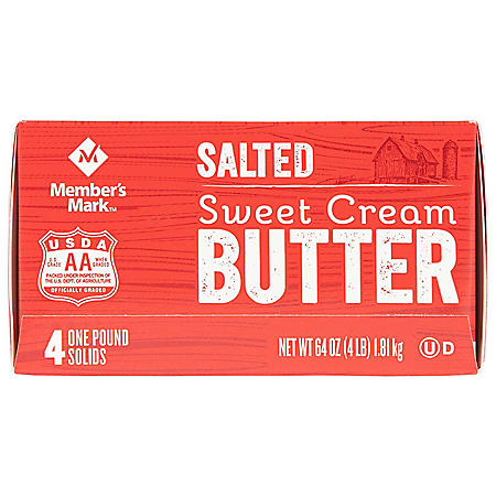 Member's Mark Salted Sweet Cream Butter (1 lb. Elgin-Style Solids, 4 ct.)