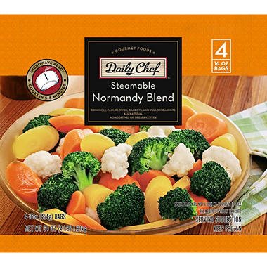 Daily Chef Normandy Blend Vegetables 16 Oz Bag 4 Ct