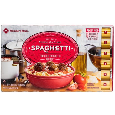 Daily Chef™ Spaghetti Pantry Pack - 1 lb. - 6 ct.