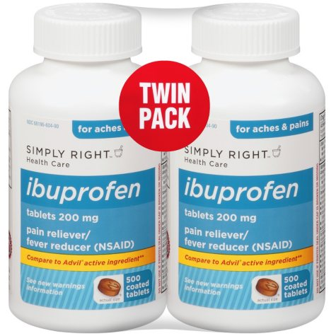 Simply Right? Ibuprofen - 2/500 ct.