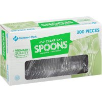Member's Mark Clear Plastic Spoons, Heavyweight (300 ct.)