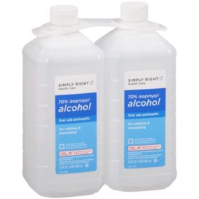 Simply Right 70% Isopropyl Alcohol - 32 fl  oz  - 2 ct