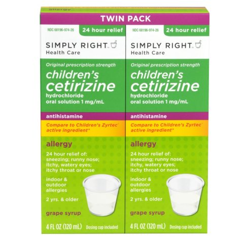 Simply Right Child Cetirizine - 2 / 4 oz.