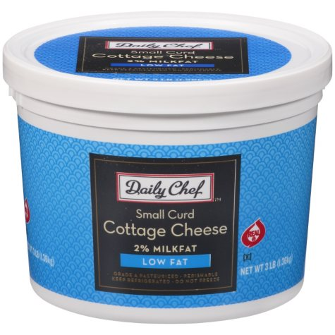 Daily Chef Small Curd Low Fat Cottage Cheese - 3 lbs.
