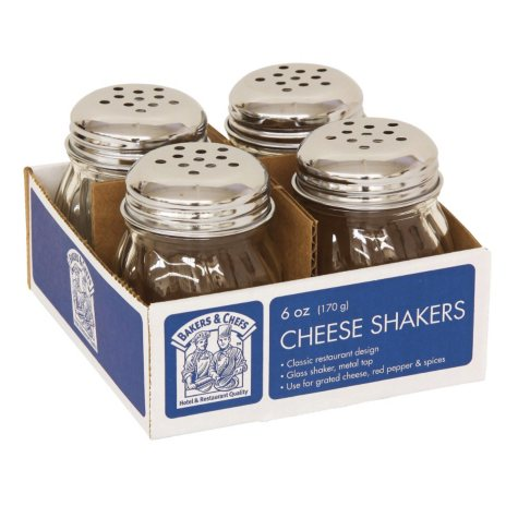 Bakers & Chefs Cheese Shakers - 6 oz. - 4 ct.