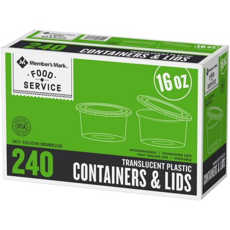 Member's Mark Deli Container with Lid (16 oz., 240 ct.)