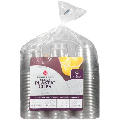 Member's Mark Clear Plastic Cups - 9 oz. - 198 ct.