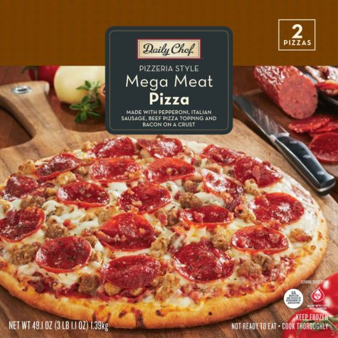 Daily Chef Mega Meat Pizza - 49.1 oz.