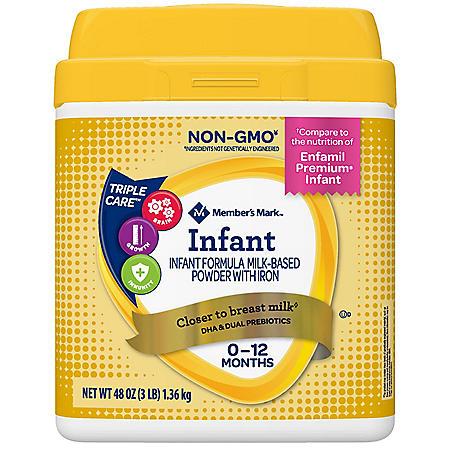 Member's Mark Infant Formula Milk-Based Powder with Iron (48 oz.)