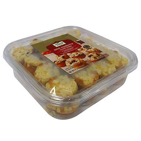 Artisan Fresh Mini Raspberry Crumb Cake - 32 ct.