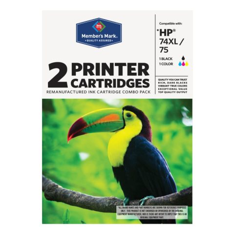 Member's Mark Remanufactured HP 74XL/75 Combo Pack - 2 Cartridges