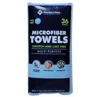 """Member's Mark 16"""" x 16"""" Microfiber Towels, 36 ct. (Choose Color)"""