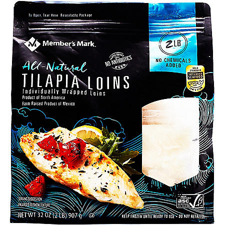 Member's Mark North American Tilapia Loins (2 lbs.)