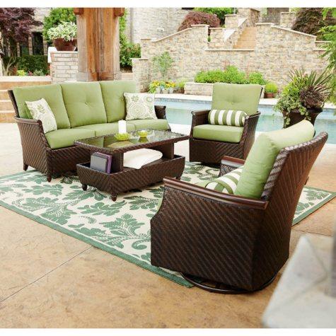 Member's Mark Carnaby Deep Seating 4-Piece Set with Premium Sunbrella Fabric