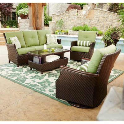 Awesome Memberu0027s Mark Carnaby Deep Seating 4 Piece Set With Premium Sunbrella Fabric