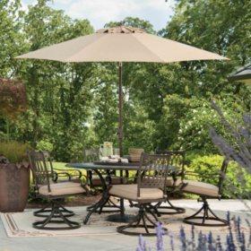 Members MarkR Madison Porcelain And Aluminum Dining Set With Premium SunbrellaR Fabric
