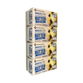 Member's Mark Unsalted Sweet Cream Butter (4 oz. Elgin-Style Sticks, 16 ct.)